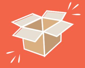 image de carton pour les cartons recyclé