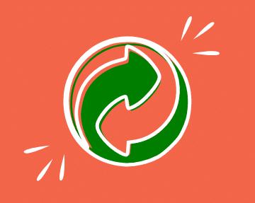 flèche verte pour le tri