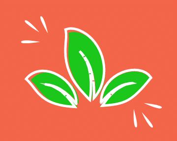 feuille verte environnementale